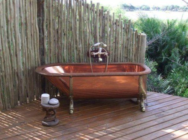 Les 25 meilleures id es concernant baignoire de cuivre sur for Robinetterie antique pour salle de bain