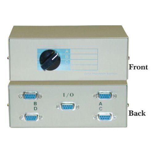 DB9 Female, ABCD 4 Way Switch Box by Cblwhl. Save 67 Off!. $14.66. 4-Way (ABCD) DB9 Female Manual data Switch Box, Metal