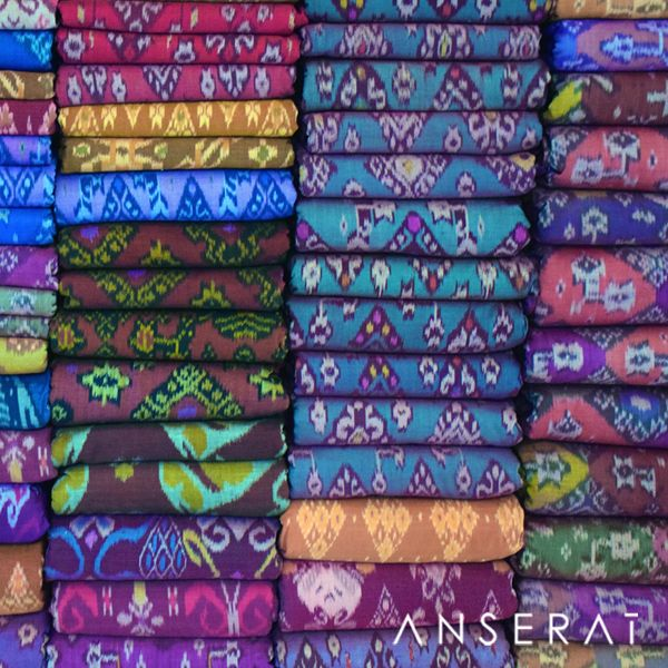 Ikat fabric by the yard in Bali // www.anserai.com