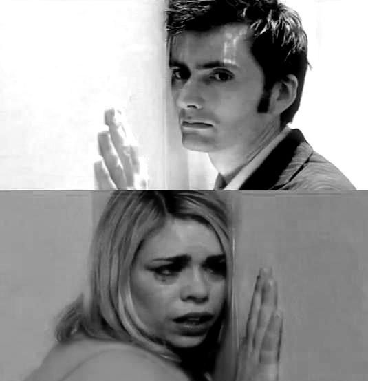 Doctor Who and Rose Tyler (David Tennant and Billie Piper). Saddest episode ever. I miss Rose and The Doctor together:(