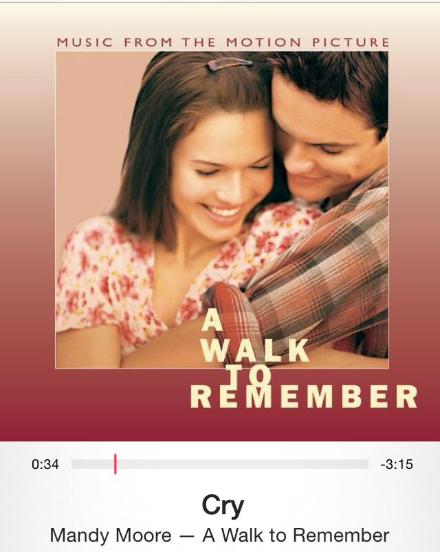 Cry - Mandy Moore   A Walk to Remember