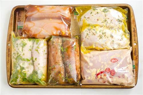 5 great chicken marinade recipes for freezing: Thai Coconut Marinade; Classic Italian Marinade; Provencal Herb Marinade; Mojo Citrus Marinade; Teriyaki Marinade