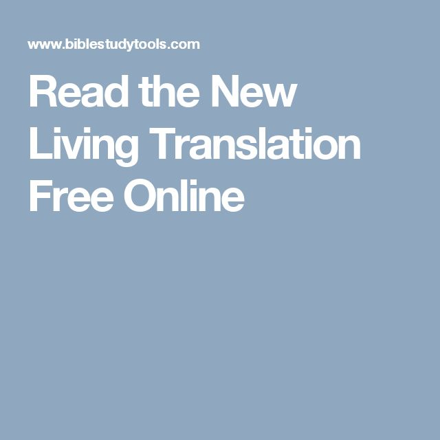 Read the New Living Translation Free Online