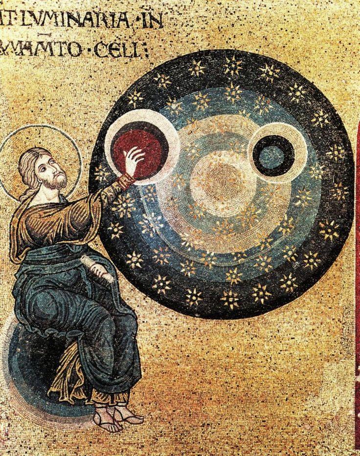 Mosaic in the Monreale Duomo , Palermo , Sicily