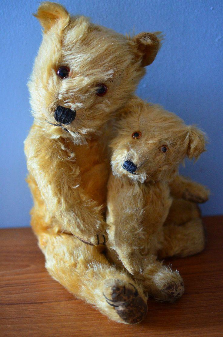 Beautiful Loved Old Vintage Chiltern Hugmee Toy Antique Teddy Bear 1940s 50s | eBay