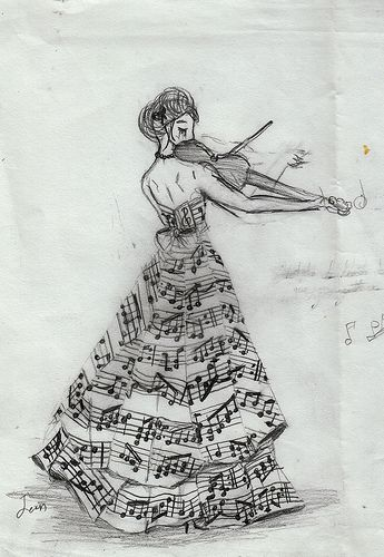 .: Sketch, Drawings, Idea, Violin, Musical, Music Art, Music Notes