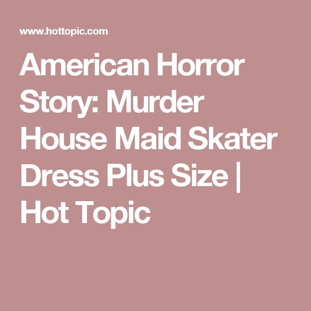 American Horror Story: Murder House Maid Skater Dress Plus Size | Hot Topic