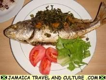 Callaloo stuffed baked fish recipe - Jamaica Travel and Culture .com