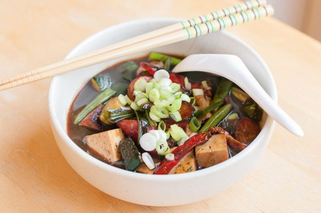 Mission Chinese Style Tofu with Radish and Shiso - Recipe | Herbivoracious - Vegetarian Recipe Blog - Easy Vegetarian Recipes, Vegetarian Cookbook, Kosher Recipes, Meatless Recipes