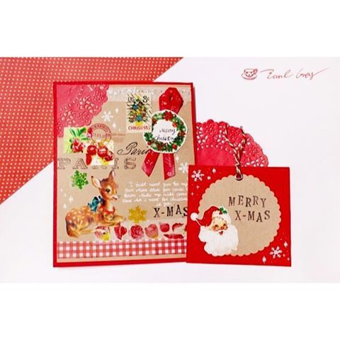 크리스마스는 역시 레드❤️ . . #카드 #카드만들기 #엽서 #postcard #마테 #마스킹테이프 #인스 #랩핑지 #コラージュ #カード #葉書 #collage #penpal #snailmail #펜팔 #ペンパル #papercraft #handmadecard #크리스마스카드 #christmascard #クリスマスカード