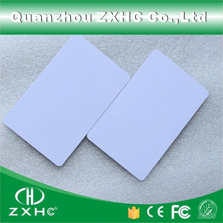 (10 unids/lote) FM1108 (S50 Compatible) A Prueba de agua de PVC Tarjeta Inteligente Blanco Etiquetas RFID 13.56 MHz Para El Acceso Control