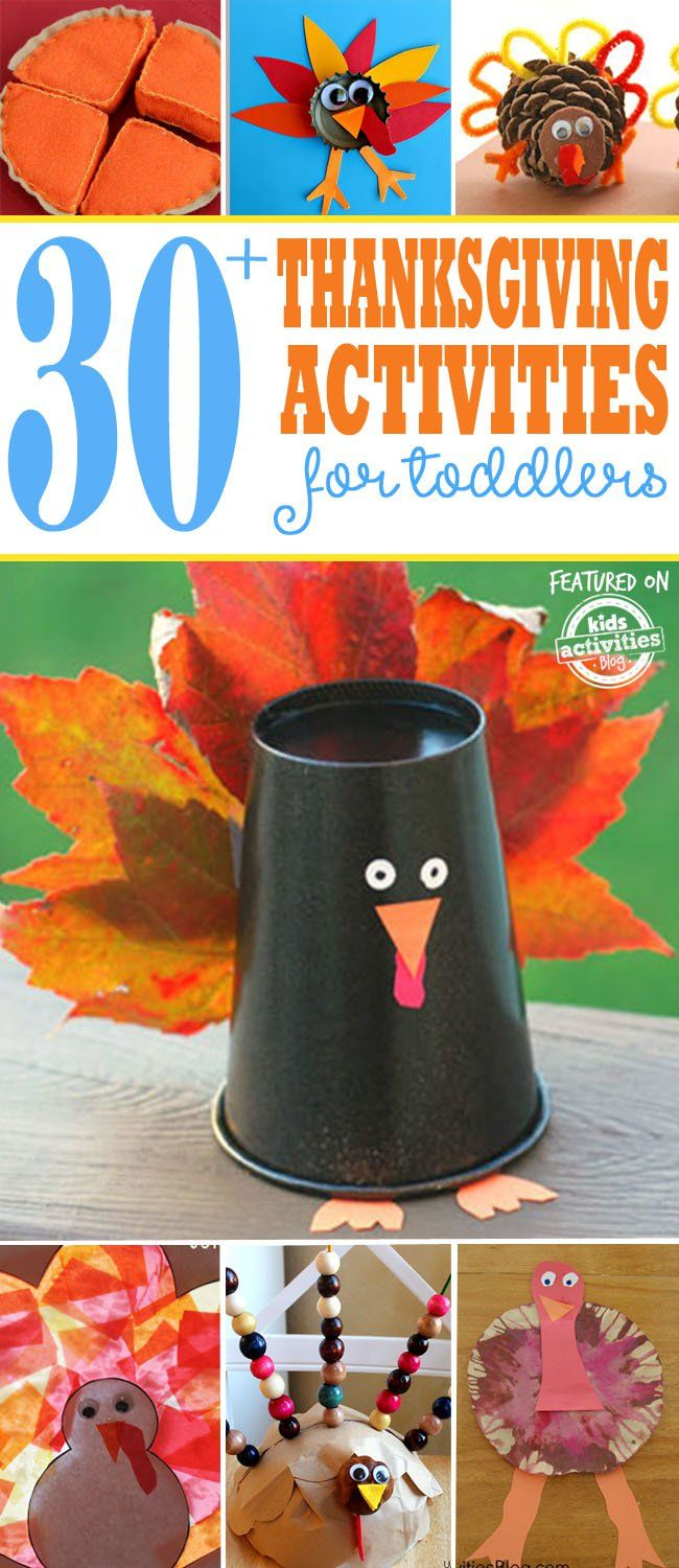 30+ Thanksgiving Activities Toddlers Will LOVE