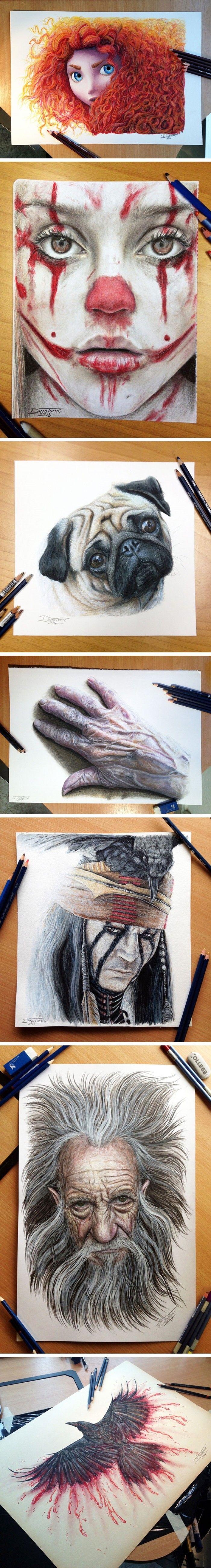 Muhteşem Gerçekçi Çizimler - Dino Tomic www.4finite.com