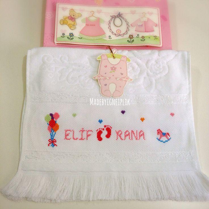 Cross stitch / baby /towel