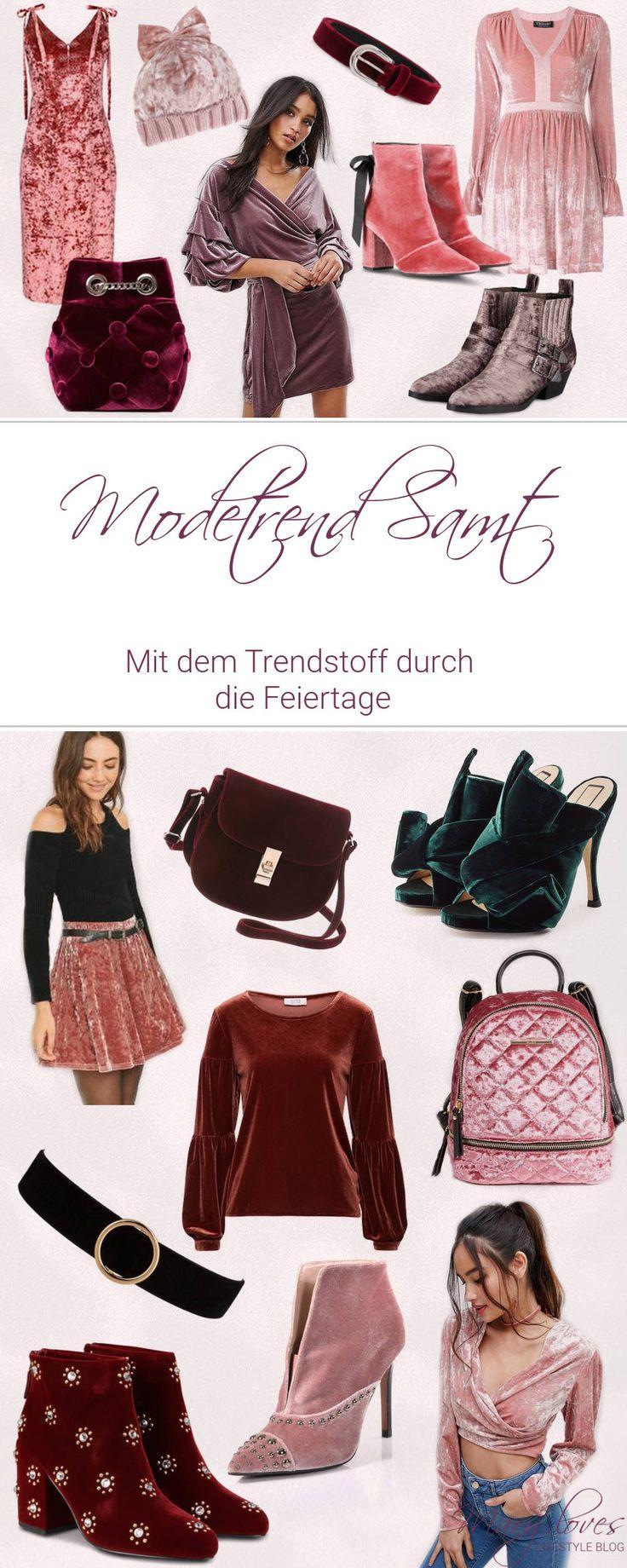 Editor's Picks - Modetrend Samt - Mit dem Trendstoff durch die Feiertage - #modetrend #samt #velvet #trendstoff #outfitidee #festtagslook #modefürfeiertage #festlichemode