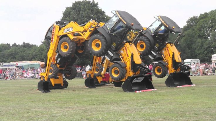 Have you ever seen #backhoes dance before? Well you have now! #HeavyEquipment #RockandDirt
