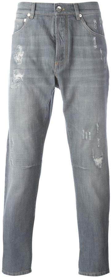 Brunello Cucinelli distressed jeans