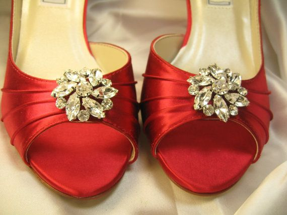 Wedding Heels With Rhinestones: 25+ Best Ideas About Red Bridal Shoes On Pinterest