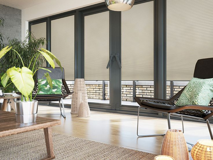 An energy saving and flame resistant Pleated Blind from the Festival collection