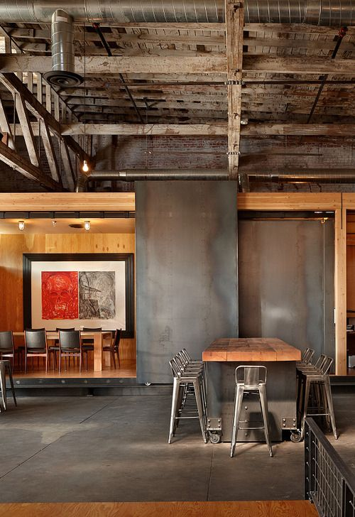 Industrial Style Wine And Tasting Room Decor