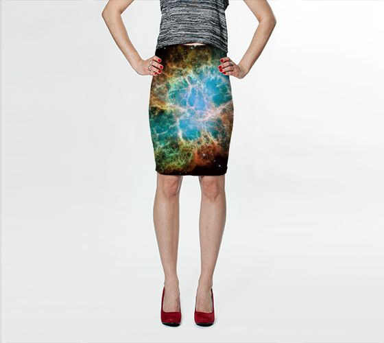 Galaxy Crab Bodycon Skirt - Available Here: http://artofwhere.com/shop/product/40931