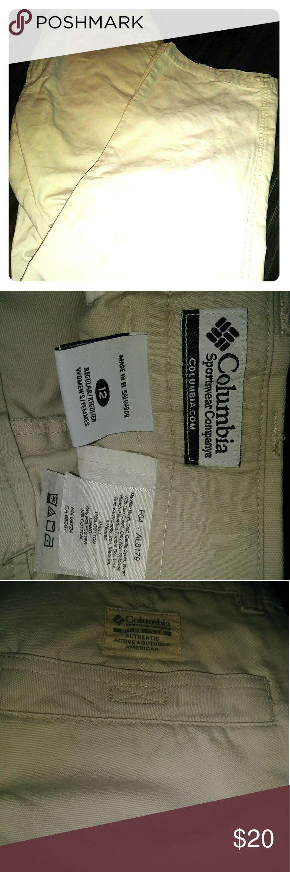Columbia sportswear khaki pant size 12 Womens columbia sportswear khaki pant size 12 Columbia Pants Trousers