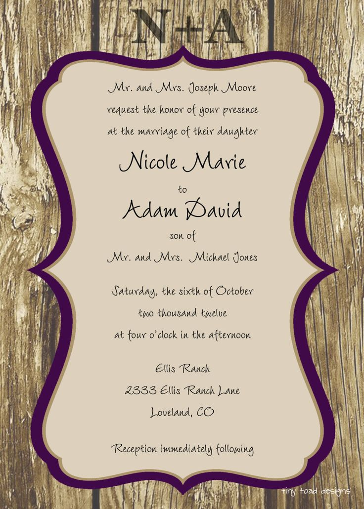 82 best Wedding Invitations images on Pinterest | Invitation ideas ...