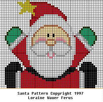 Santa pattern - Billy Bear's Storybook Cross Stitch & Knitting Patterns
