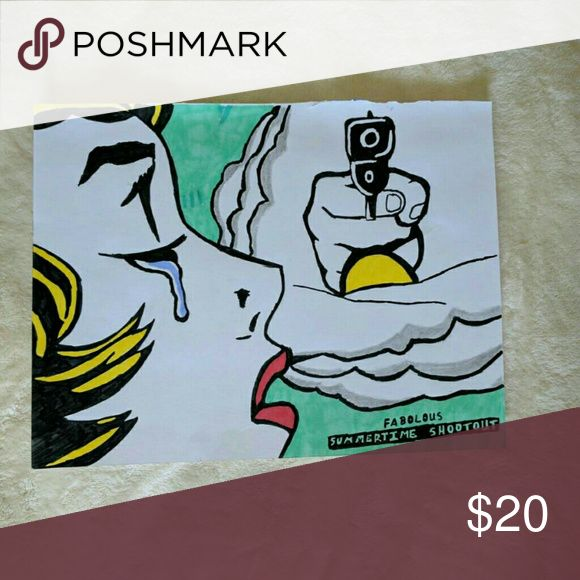 Sharpie Art Print Fabolous's Summertime Shootout album cover Art Made by Me Accessories