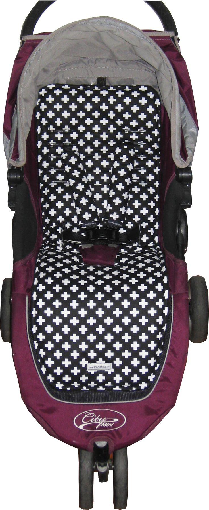 Black & White Crossess for Baby Jogger City Mini