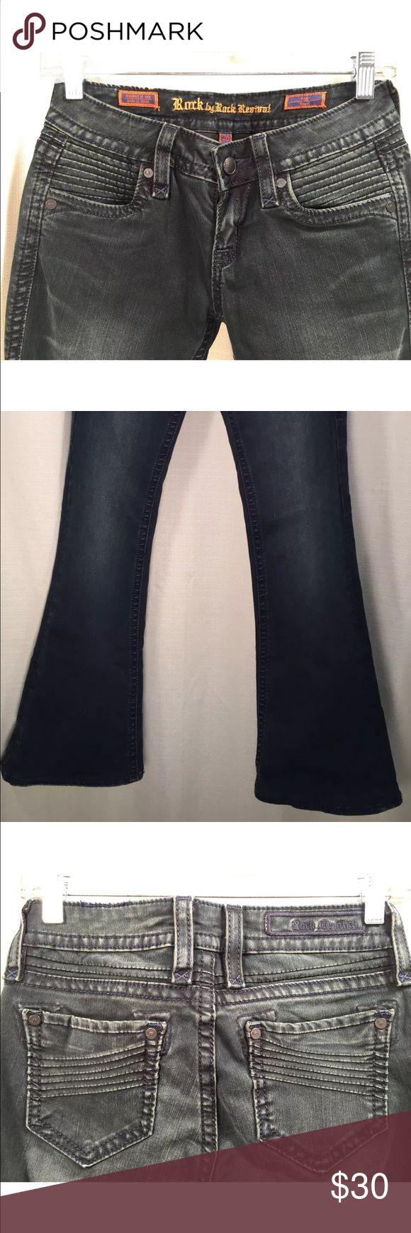 "Rock Revival Black Women's Jeans Size 26*30 L 38"" Rock Revival Black Women's Jeans Size 26*30 L 38"". These jeans were sewn. Rock Revival Jeans"
