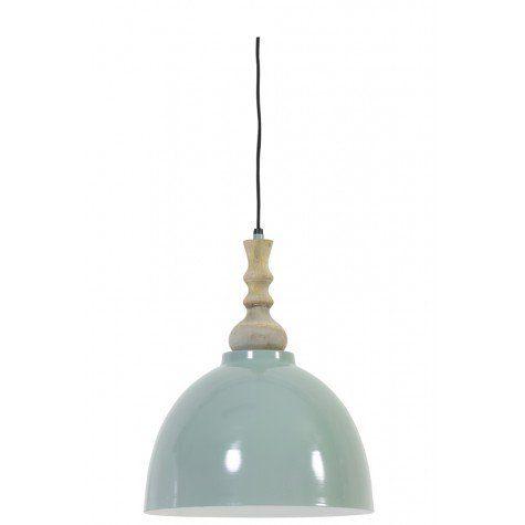 Hanglamp Ø29,5x36 cm KATIE oud groen-wit - Light & Living