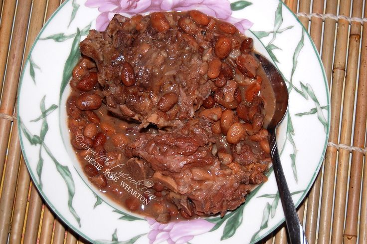 I know it's only Tuesday but this Pinto Beans & Pork Neck Bones Soup would be one of those crock-pot dishes you make during the weekends, starting it early in ...