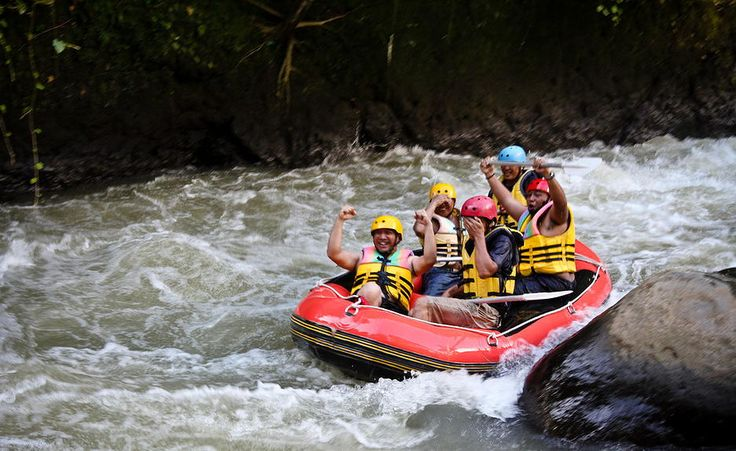 Extreme rafting at Nimanga river, North Sulawesi.....