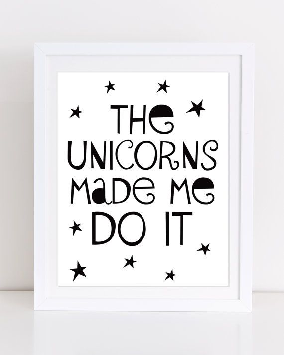 Unicorn afdrukbare speelkamer Decor typografie Print de