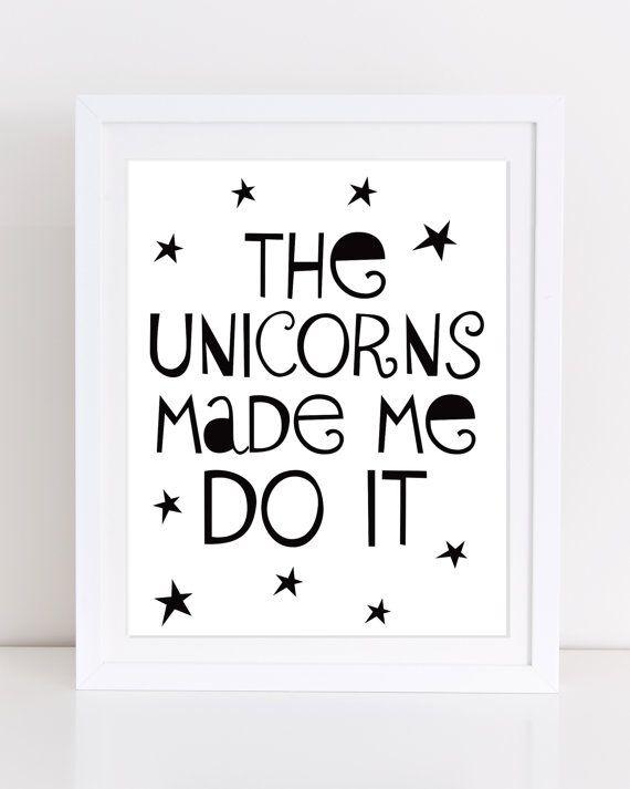 Unicorn Print Unicorn PRINTABLE Playroom Decor Modern