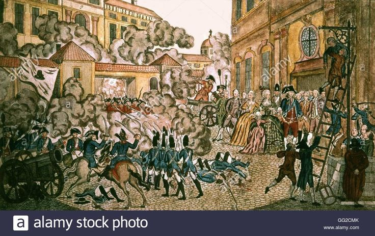Anonymous, On night of August 10, 1792 1792 France, French Revolution Stock Photo, Royalty Free Image: 113150595 - Alamy