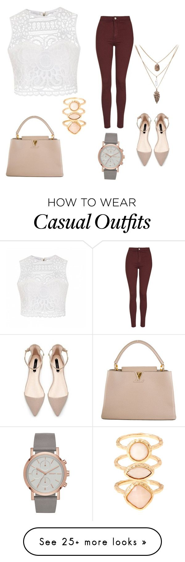 """Casual"" by yesenialeon930 on Polyvore featuring moda, Ally Fashion, Louis Vuitton, Topshop y Monsoon"