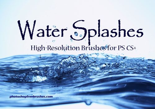 Water Splashes-PS Brush Set by fiftyfivepixels.deviantart.com on @deviantART