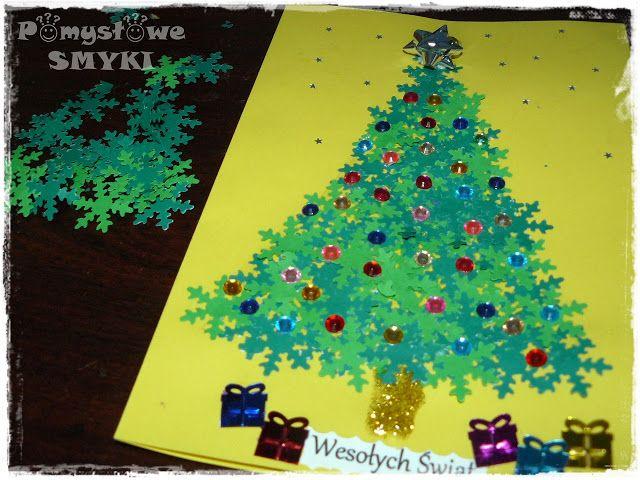 Kartki świąteczne z motywem choinki cz.1 ~ Pomysłowe Smyki