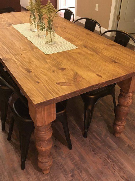 The Carolina Table Modern Rustic Farmhouse Table | Etsy ...