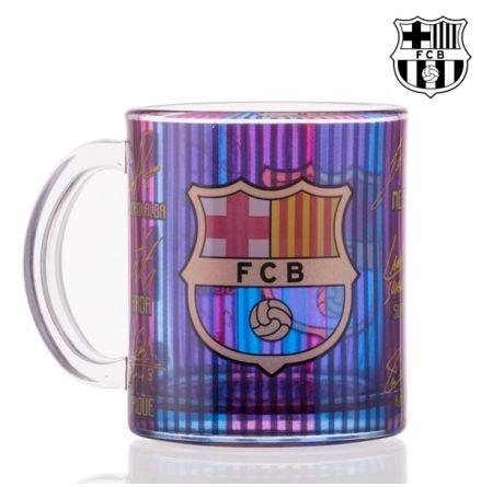F.C BARCELONA glas mugg