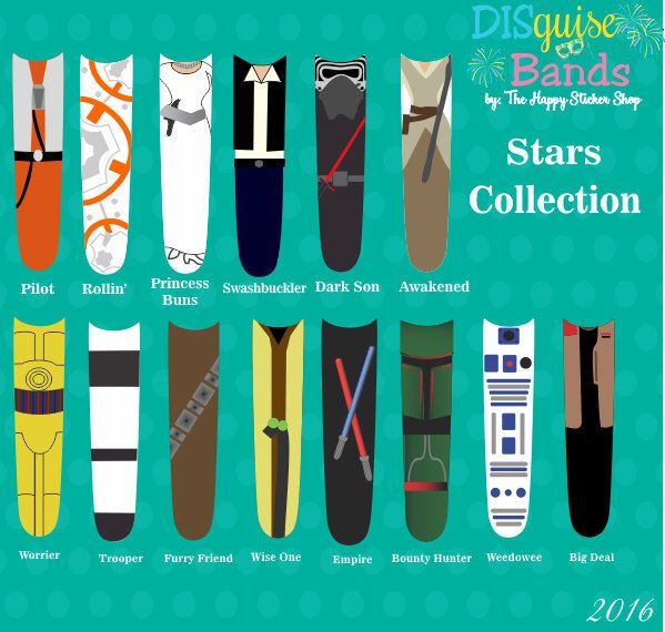 Stars Collection Magic Band Sticker Decal DISguise Band Vinyl Decal to Decorate Your Theme Park Wrist Band by TheHappyStickerShop on Etsy https://www.etsy.com/listing/235474922/stars-collection-magic-band-sticker