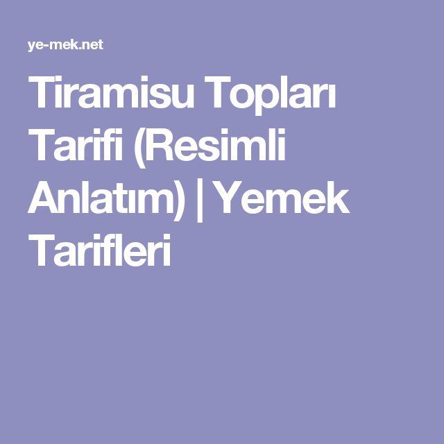 Tiramisu Topları Tarifi (Resimli Anlatım) | Yemek Tarifleri
