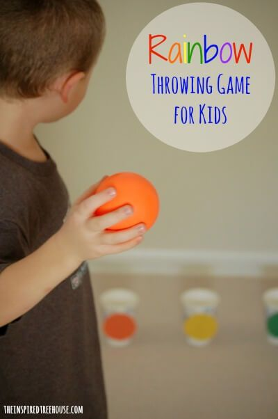 rainy day activities for kids rainbow throwing game title