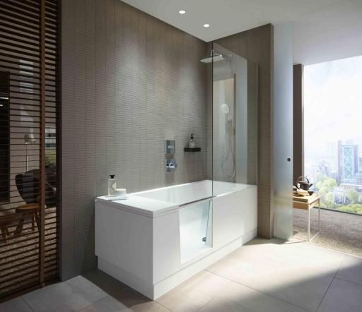 Shower? Bathtub? Both! Duravit product, design by EOOS