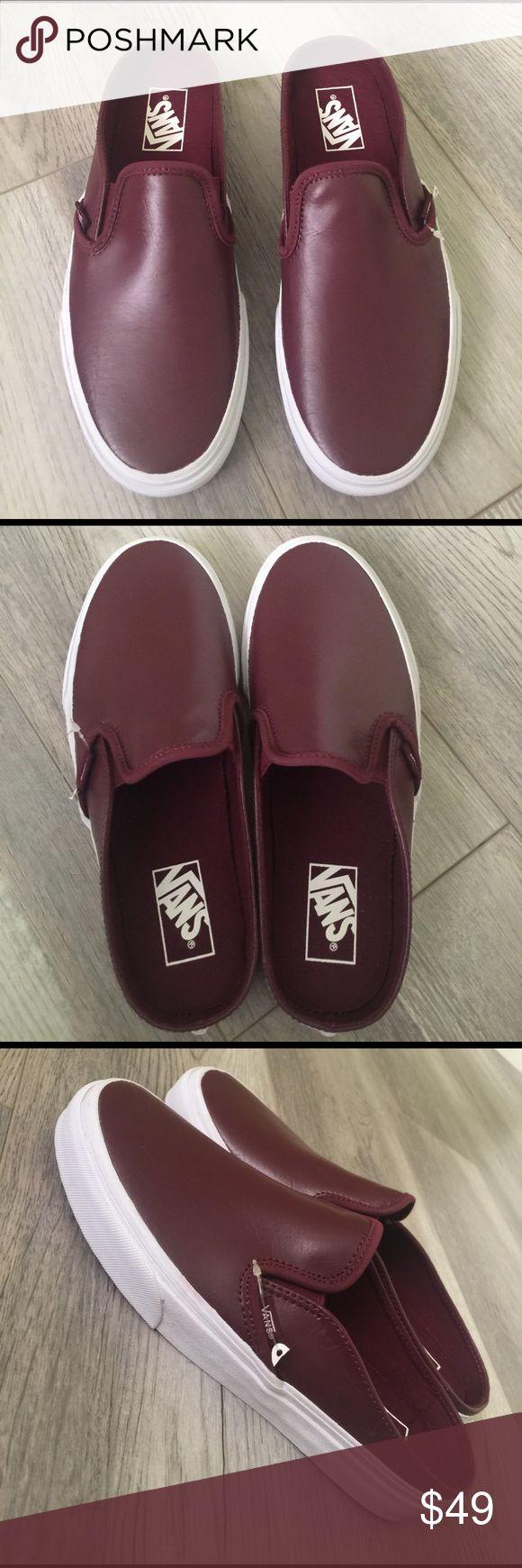 Can i buy vans for cheap mens vans slip on shoes vans on the wall - Vans Slip On Sneakers Maroon Brand New W Box