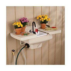 Outdoor sink- no extra plumbing $79.98 Gardening Pinterest