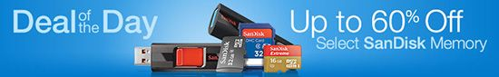 Deal of the day: SanDisk memory up to 60% off
