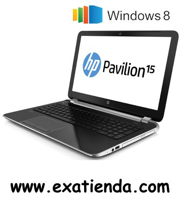 "Ya disponible NB HP PAVILION 15 N008SS I3 3217U/4GB/500GB/15.6""/W8/64     (por sólo 550.75 € IVA incluído):   -Procesador:Intel Core i3-3217U / 1,8 GHz -Memoria:4GB DDR3 (max. 8GB) -Hdd:SATA de 500 GB 5400 rpm -Óptico:SuperMulti DVD±RW con soporte de doble capa -Pantalla:TFT LED 15.6"" HD BrightView (1366 x 768) -Graficos:AMD Radeon HD 8670M (DDR3 dedicada de 1 GB) -Webcam:Integrada -Conectividad: *Lan:10/100 BASE-T Ethernet LAN integrada *Wifi:802.11b/g/n *Bluetooth:(no"